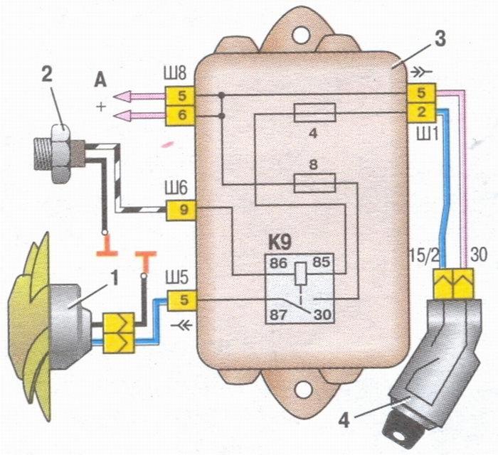 схема электро ваз 2108
