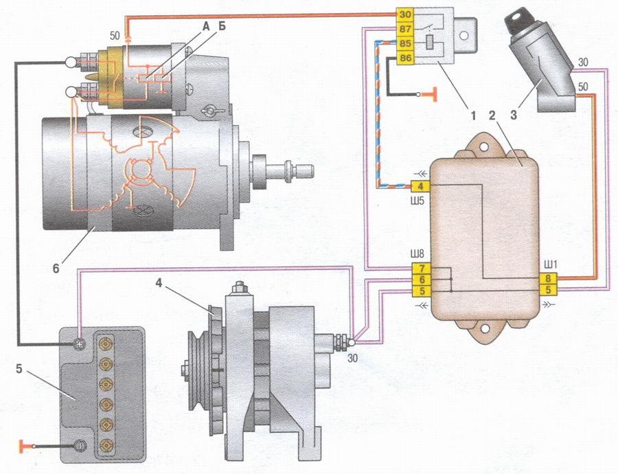 Электро схема ваз 2108
