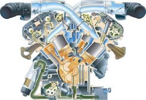 Двигатель W12 рабочим объемом 6,0 л для автомобиля Audi A8.